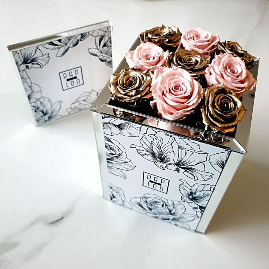 9 roselline oro e rosa