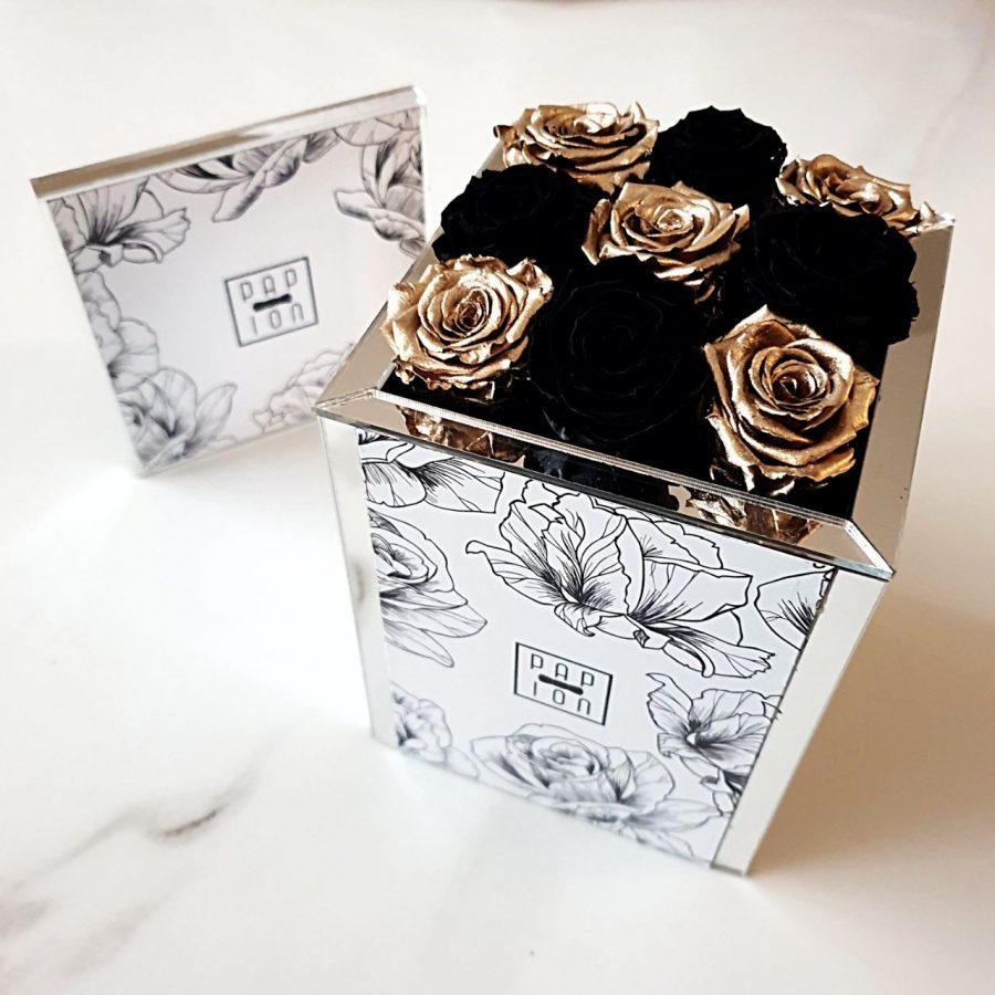 9 roselline nere e oro