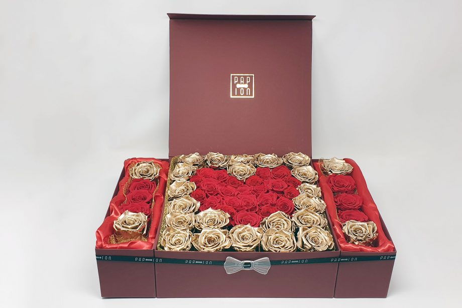 scatola grande cuore rosso